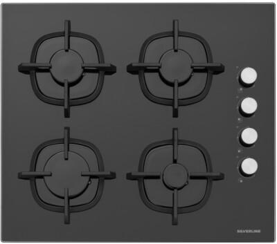 Silverline - Silverline CS5343B01 Ankastre Cam Ocak, Siyah, 60cm